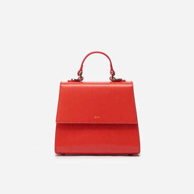 The Katie Top Handle Bag - Red
