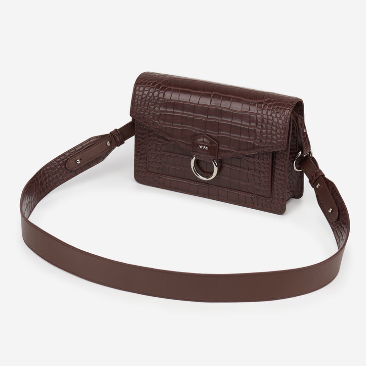 The Envelope Crossbody - Nutella Croc