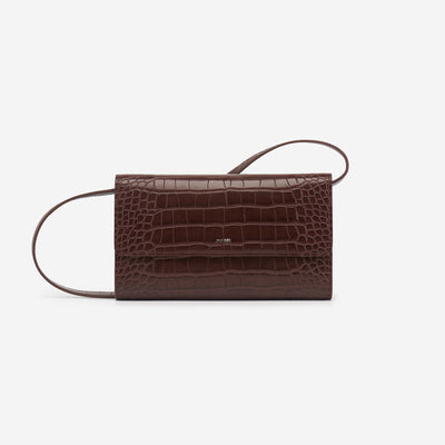 The Flap Wallet - Nutella Croc