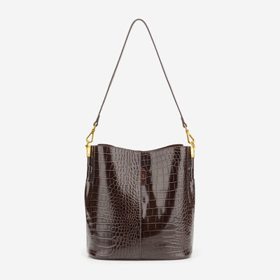 Leah Bucket Bag - Nutella Croc