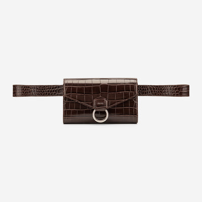 The Envelope Belt Bag - Netulla Croc