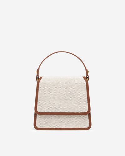 The Fae Top Handle Bag -Beige Canvas