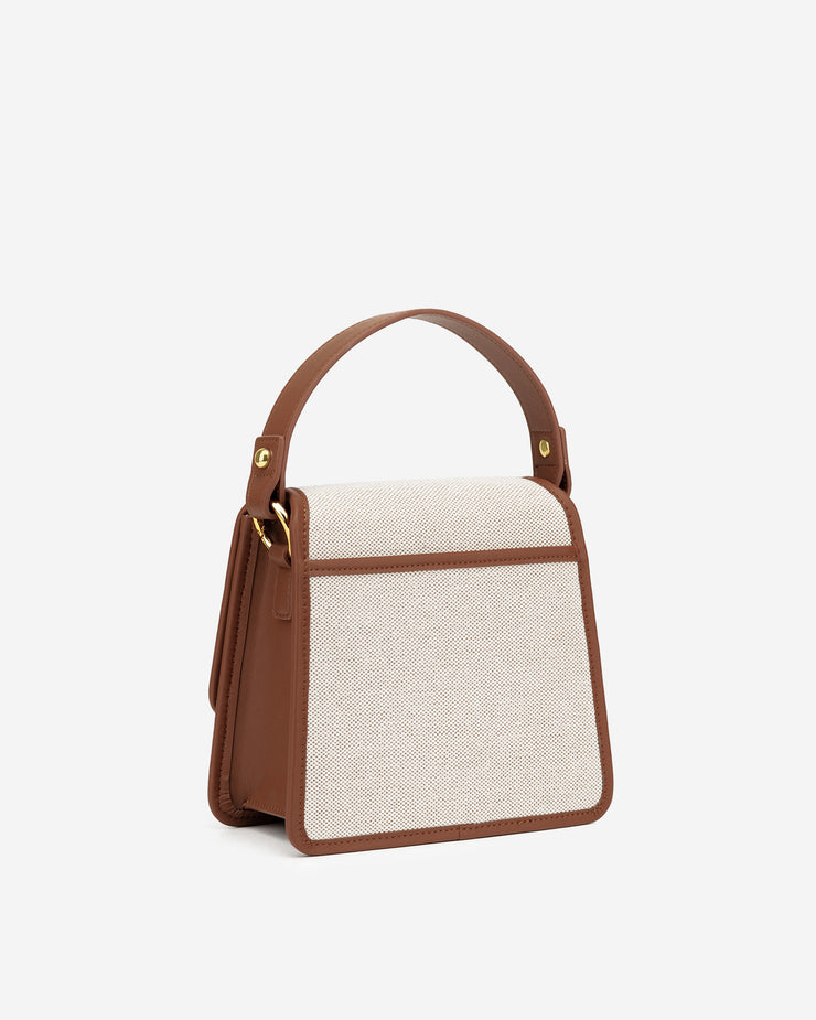 The Fae Top Handle Bag - Beige Canvas