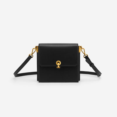 The Ring Lock Crossbody - Black