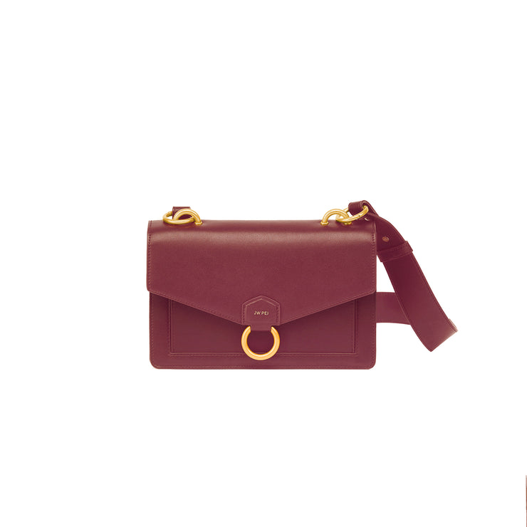 The Envelope Crossbody - Wine Red