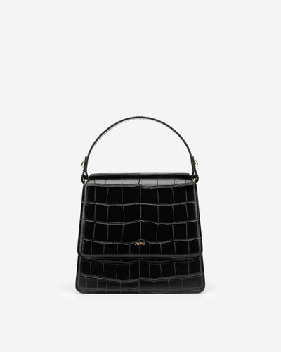 The Fae Top Handle Bag - Brack Croc
