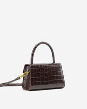 Stella Top Handle Bag - Nutella Croc