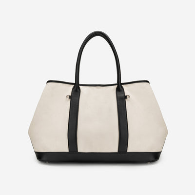 Medium Travel Bag - White Canvas