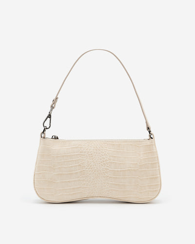 Eva Shoulder Bag - Ivory Croc