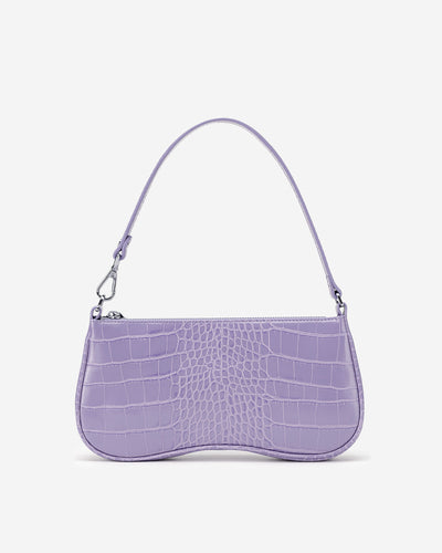 Eva Shoulder Bag - Purple Croc