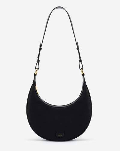 Carly Nylon Saddle Bag - Black