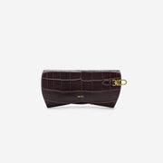 Quinn Glasses Case - Brown Croc