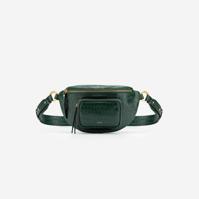 Poppy Beltpack - Dark Green Croc