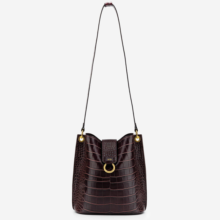 Josie Bucket Bag - Brown Croc