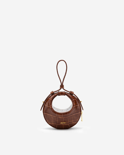 Rantan Super Mini Bag - Brown Croc