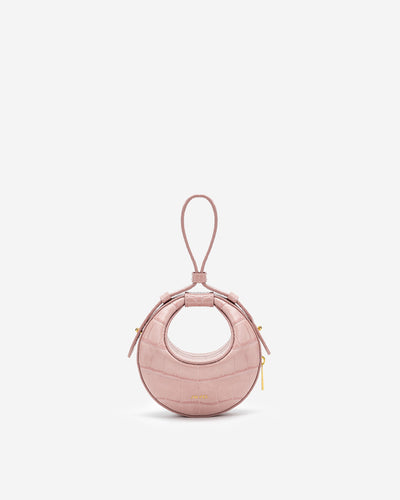 Rantan Super Mini Bag - Pink Croc