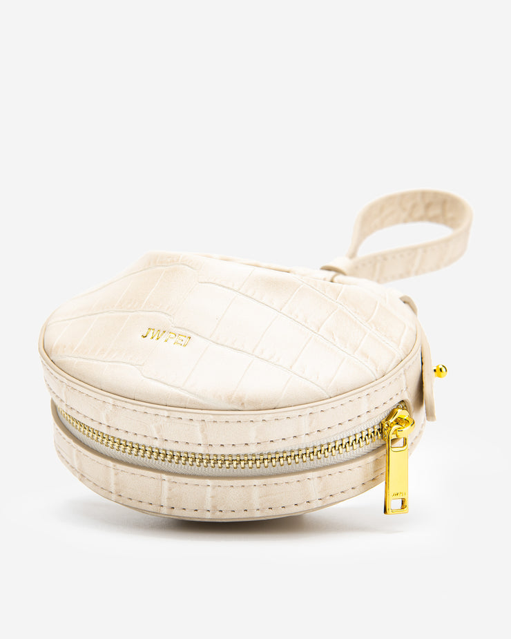 Rantan Super Mini Bag - Beige Croc