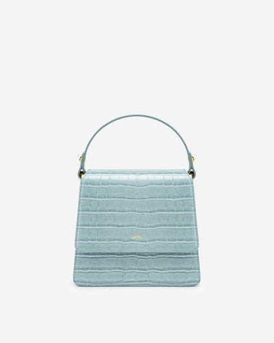 The Fae Top Handle Bag - Ice Croc
