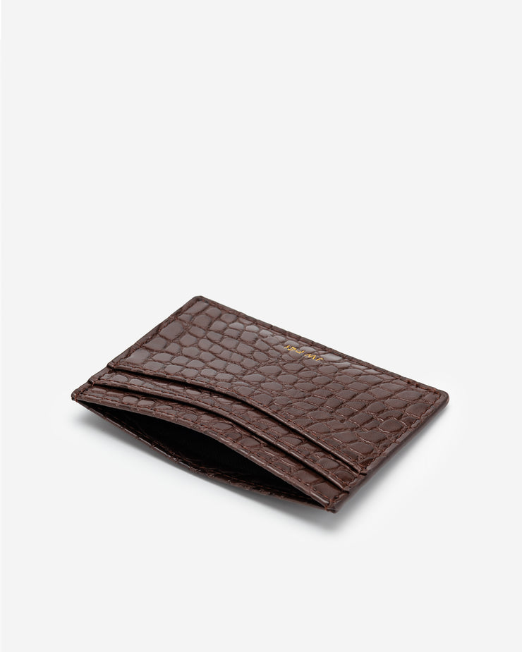 The Card Holder - Brown Croc