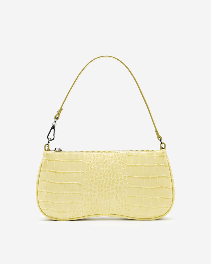 Eva Shoulder Bag - Light Yellow Croc