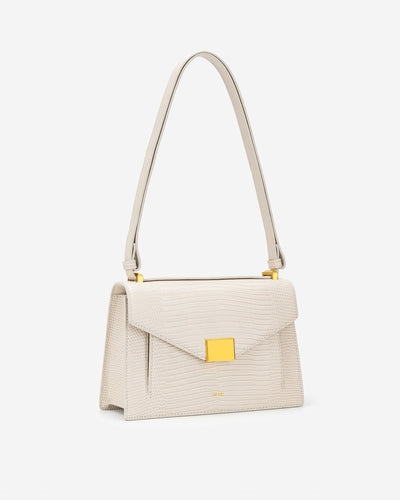 Lilian Bag - Ivory Lizard
