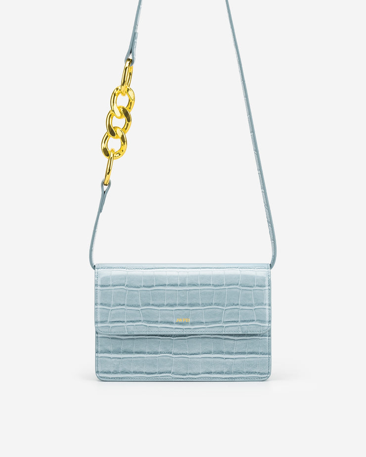 Julia Chain Crossbody Bag - Ice Croc