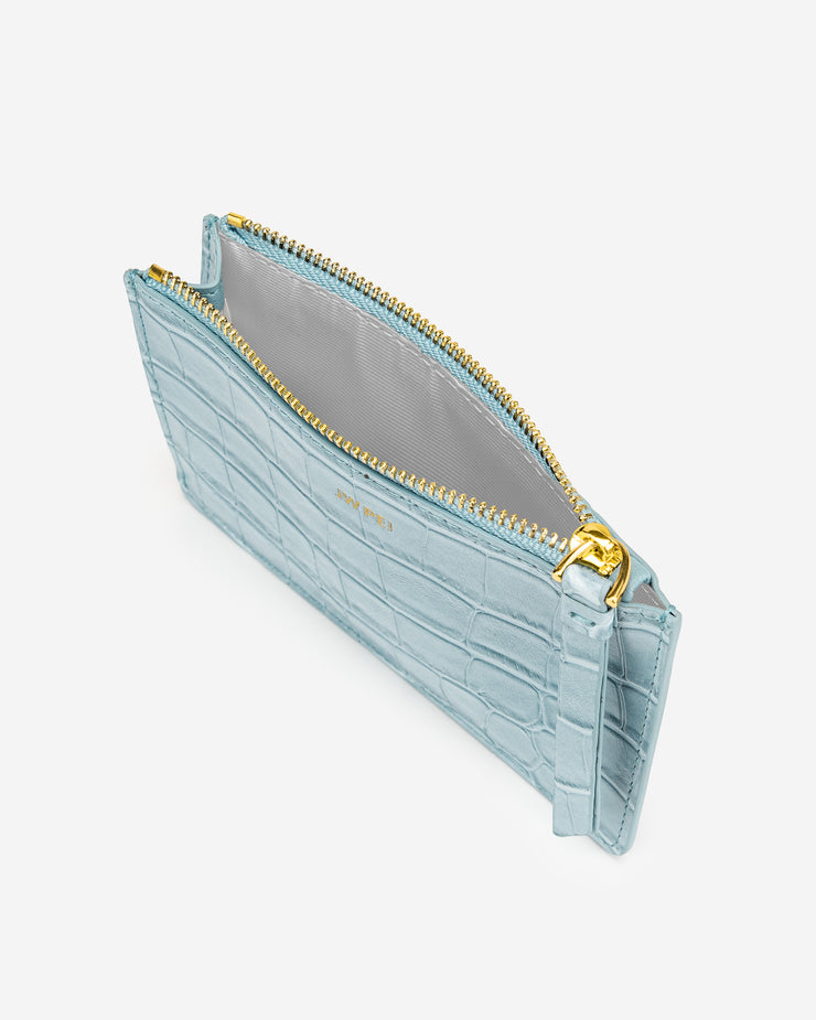 Quinn Zipped Card Holder - Ice Croc