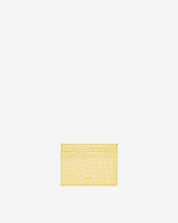 The Card Holder - Light Yellow Croc