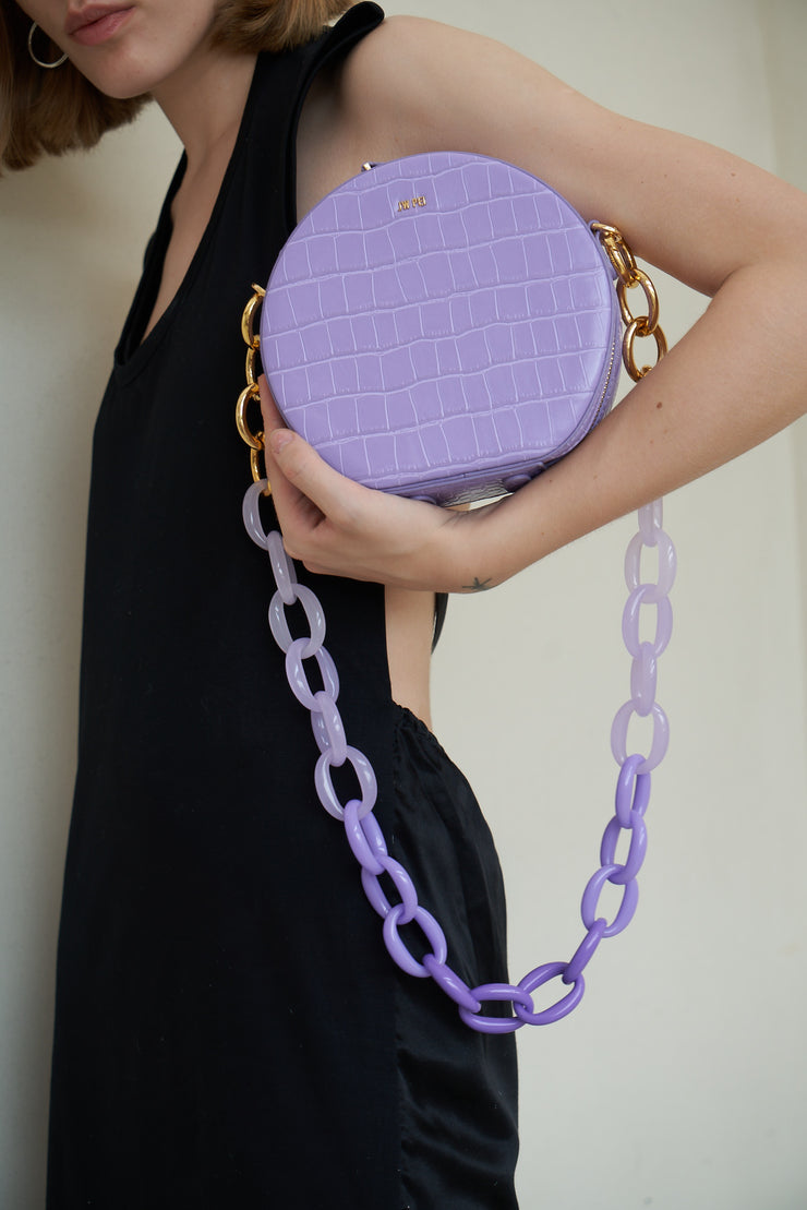 Mya Gradient Acrylic Chain Strap - Purple