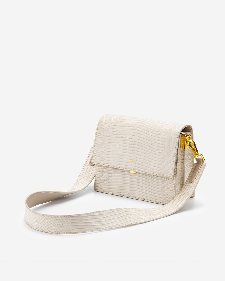 Mini Flap Bag - Ivory Lizard