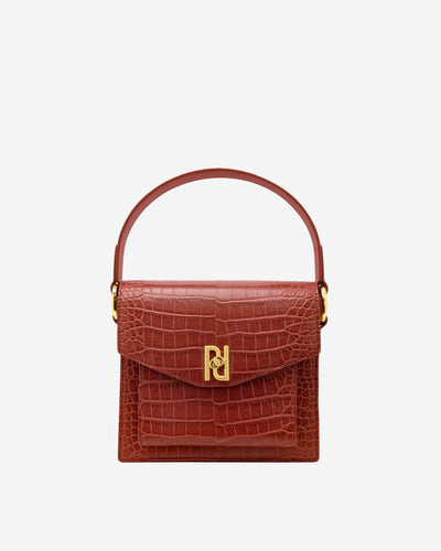 Lucy Bag -  Wine Red Croc