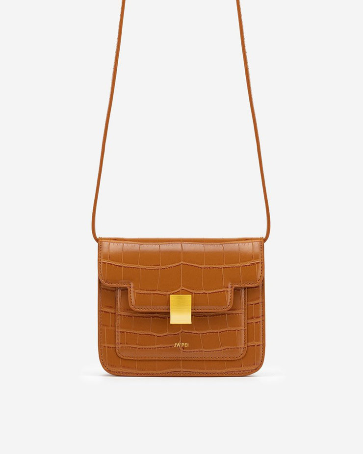 Kelly Bag - Toffee Croc