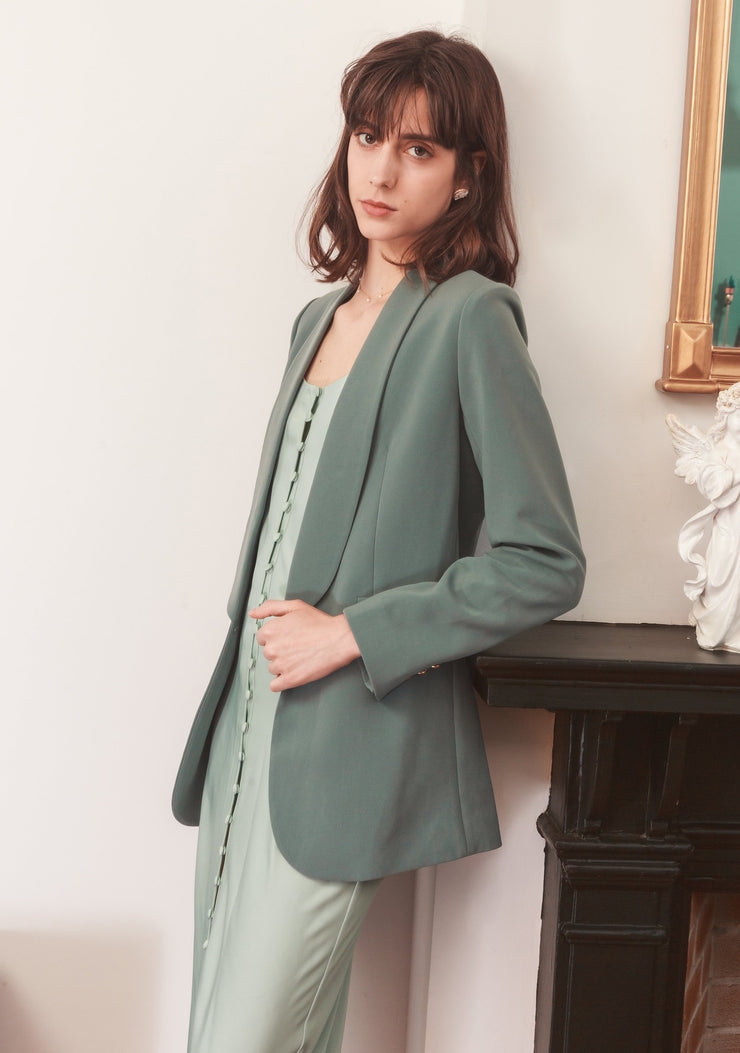Beryl Leisure Blazer- Aqua Green