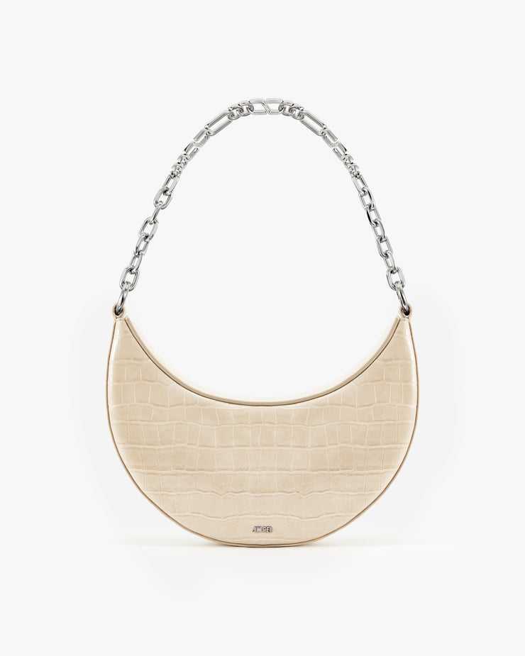Carly Medium Shoulder Bag - Light Beige