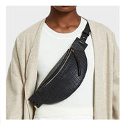 Callie Belt Bag - Black Croc