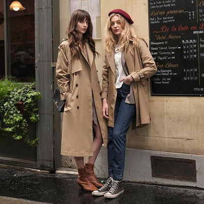 Alice Classic Double Breasted Cotton Trench Coat
