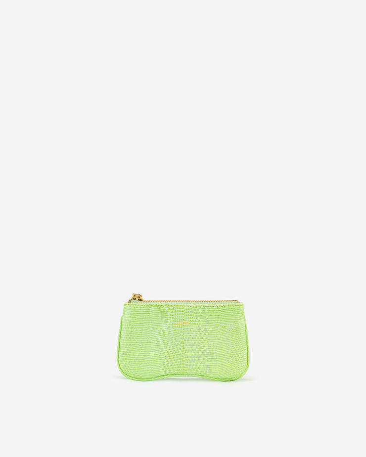 Eva Card Holder - Lime Green Lizard