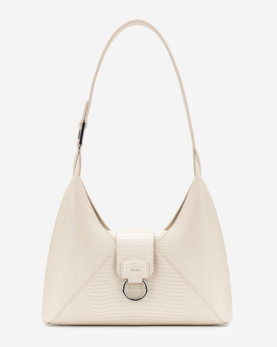 Stella Shoulder Bag - Ivory Lizard