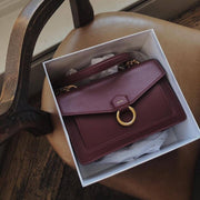 The Envelope Chain Crossbody - Wine Red