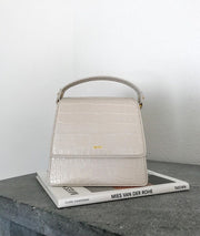 The Fae Top Handle Bag - Ivory Croc