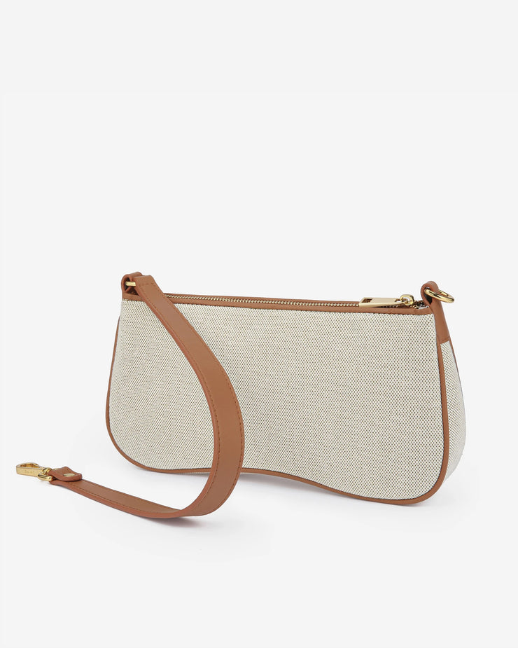 Eva Shoulder Bag - Beige Canvas