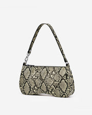 Eva Shoulder Bag - Natural Snake Embossed