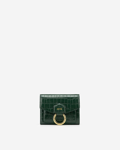 Stella Wallet - Dark Green Croc