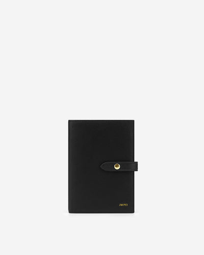 Quinn Passport - Black Grained Vegan Leather