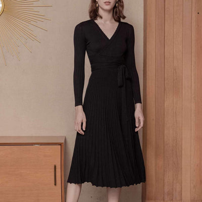 Emma Wool Dress - Black