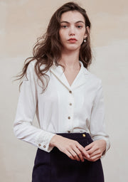 Ines Lace Blouse - White