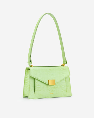 Lilian Bag - Lime Green Lizard