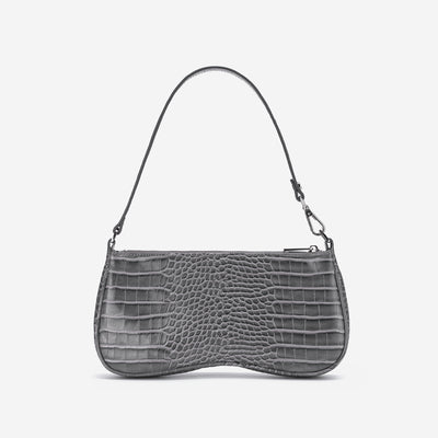 Eva Shoulder Bag - Grey Croc