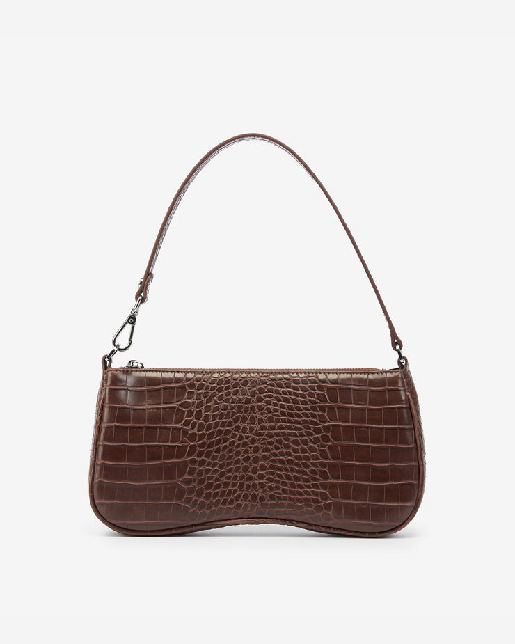 Eva Shoulder Bag - Brown Croc