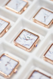 The White Marble Square Watch